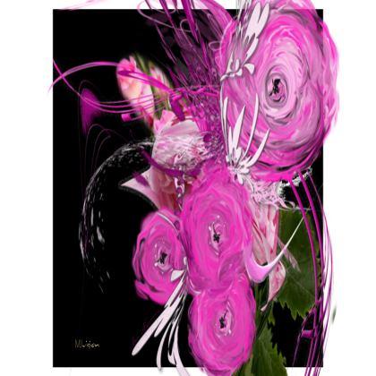 Small Trays - Små Brickor - Pink Summer Fantasy Black