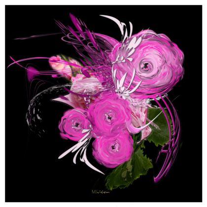 Serving Platter - Uppläggningsfat - Pink summer fantasy black