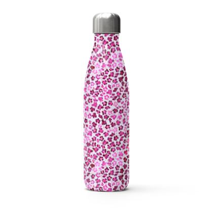 Leopard Skin in Magenta Collection Stainless Steel Thermal Bottle