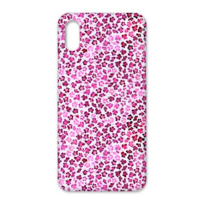 Leopard Skin in Magenta Collection IPhone Cases