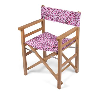 Leopard Skin in Magenta Collection Directors Chair