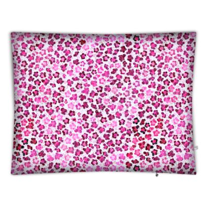 Leopard Skin in Magenta Collection Floor Cushions