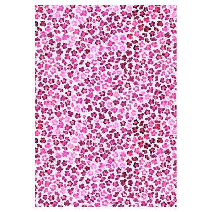 Leopard Skin in Magenta Collection Double Deckchair