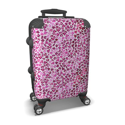 Leopard Skin in Magenta Collection Suitcase
