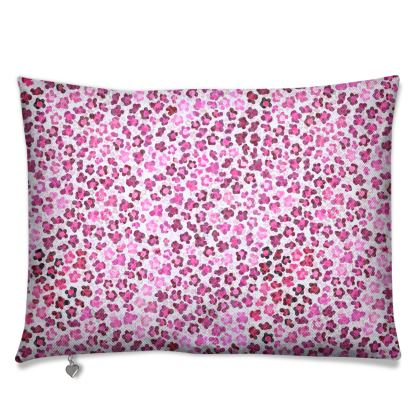 Leopard Skin in Magenta Collection Luxury Cushions