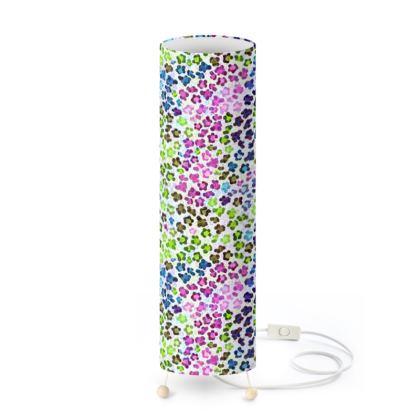 Leopard Skin Multicoloured Collection Standing Lamp