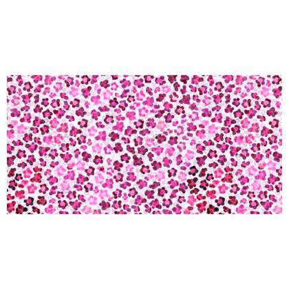 Leopard Skin in Magenta Collection Travel Wallet