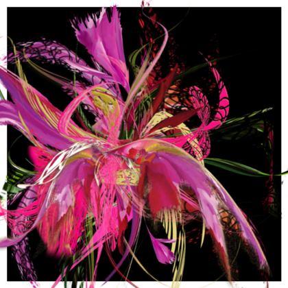 Cushion - Kudde - Pink flow black