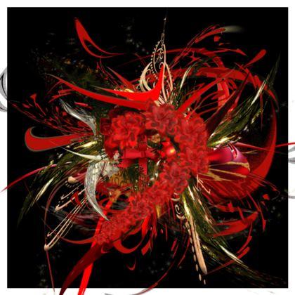 Cushion - Kudde - Christmas Mismatch black