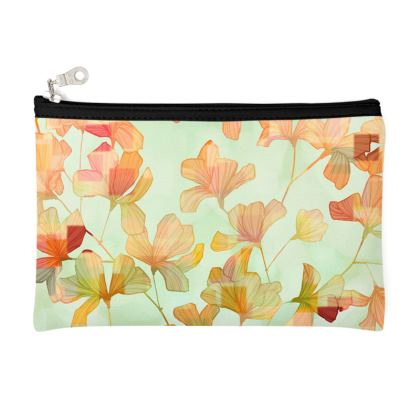 Autumn breeze leaves pattern pencil case
