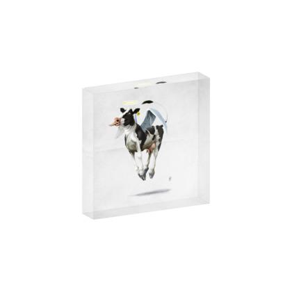 Holy Cow ~ Wordless Animal Behaviour Acrylic Block