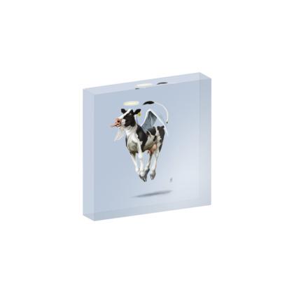 Holy Cow ~ Colour Animal Behaviour Acrylic Block