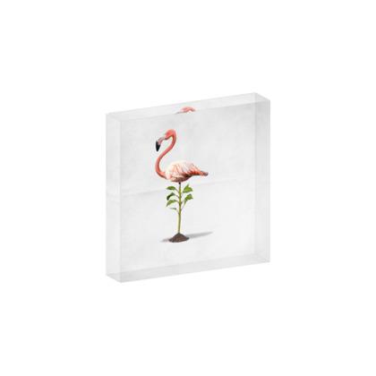 Planted ~ Wordless Animal Behaviour Acrylic Block