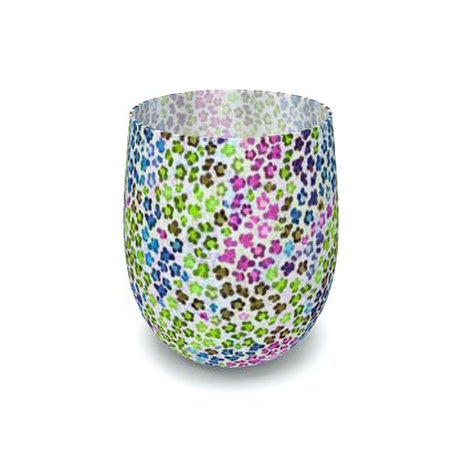 Leopard Skin Multicoloured Collection Water Glass
