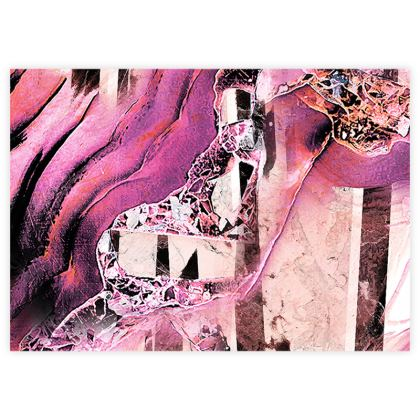 Bright pink geode stone texture