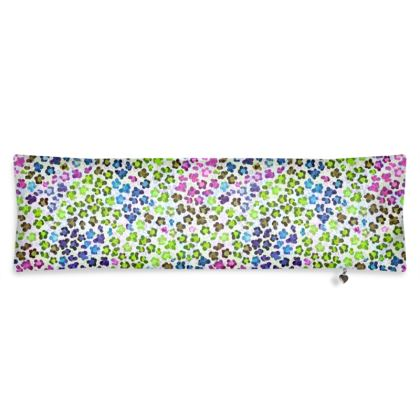 Leopard Skin Multicoloured Collection Bolster Cushion