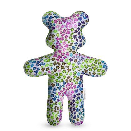 Leopard Skin Multicoloured Collection Teddy Bear