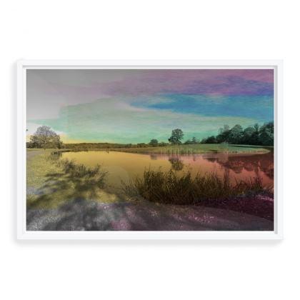 Framwed Art Print- Colour Field (Right)