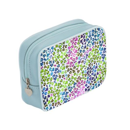 Leopard Skin Multicoloured Collection Make Up Bags