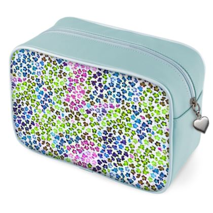 Leopard Skin Multicoloured Collection Wash Bags