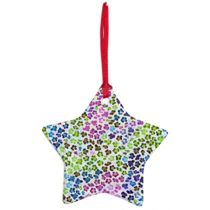 Leopard Skin Multicoloured Collection Christmas Ornaments