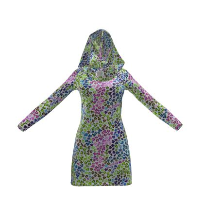 Leopard Skin Multicoloured Collection Hoody Dress