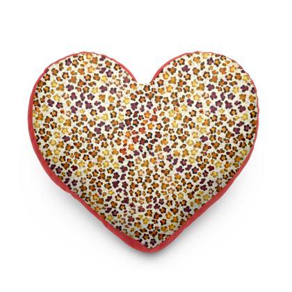 Leopard Skin Collection Heart Cushion