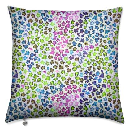 Leopard Skin Multicoloured Collection Cushions