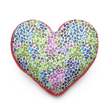 Leopard Skin Multicoloured Collection Heart Cushion