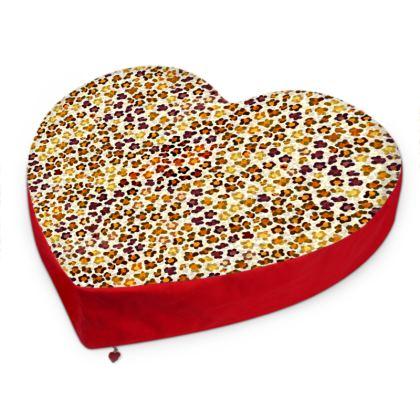Leopard Skin Collection Big Heart Cushion