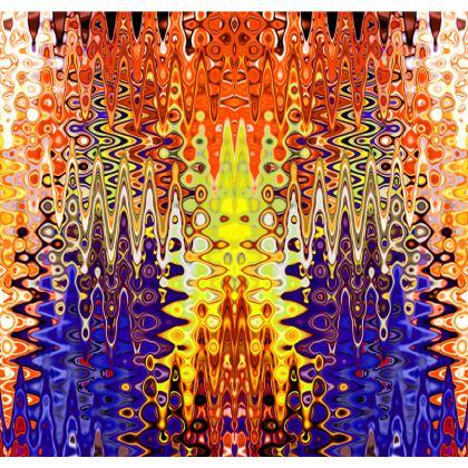 Kimono Jacket Splashes Orange Purple