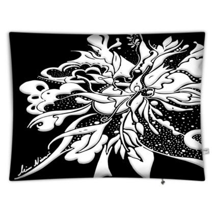 Floor Cushion - Golvkudde - White ink black