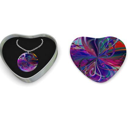 Sterling Silver Necklace Purple Flower