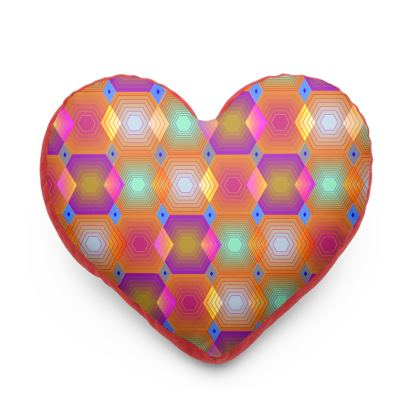 Geometrical Shapes Collection Heart Cushion