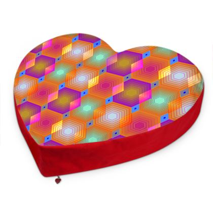 Geometrical Shapes Collection Big Heart Cushion