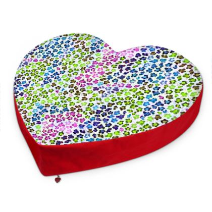 Leopard Skin Multicoloured Collection Big Heart Cushion
