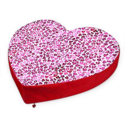 Leopard Skin in Magenta Collection Big Heart Cushion