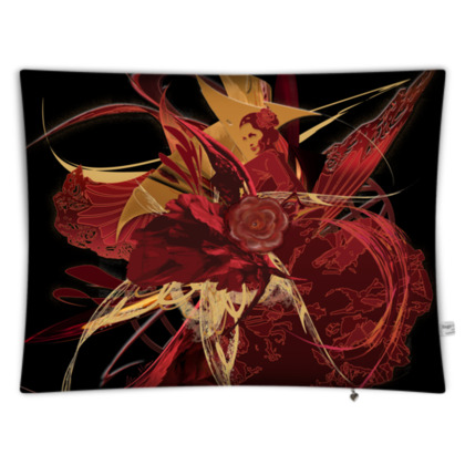 Floor Cushion - Golvkudde - Flamenco black