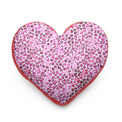 Leopard Skin in Magenta Collection Heart Cushion