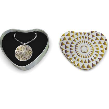 Sterling Silver Necklace Gold Mandala Torus