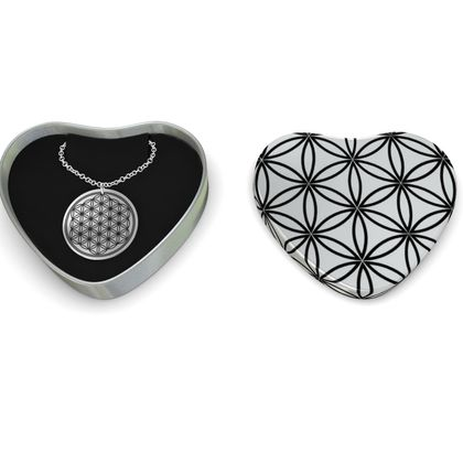 Sterling Silver Necklace Flower Of Life