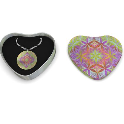 Sterling Silver Necklace Kaleidoscope Flower Of Life 1