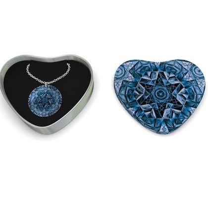 Sterling Silver Necklace Kaleidoscope Star