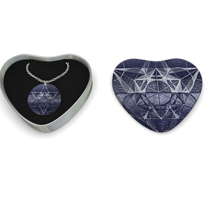 Sterling Silver Necklace Metatron's Cube