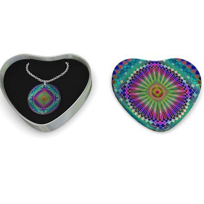 Sterling Silver Necklace Mandala Sun