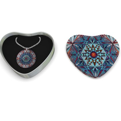 Sterling Silver Necklace Mandala Diamons Star