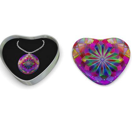 Sterling Silver Necklace Mandala Rays