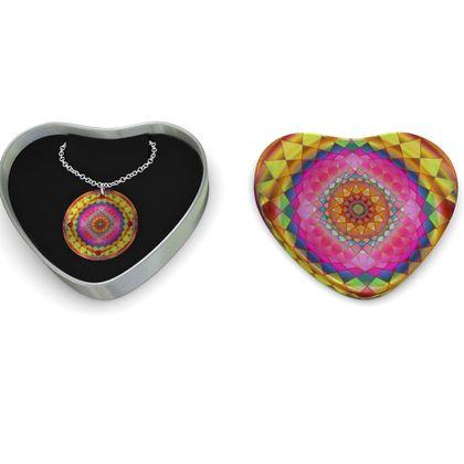 Sterling Silver Necklace Mandala Gold Pink
