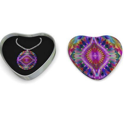 Sterling Silver Necklace Mandala Eye