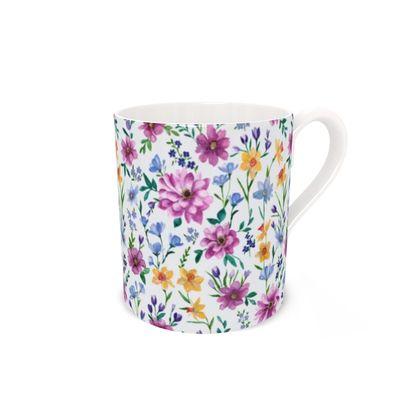 Bone China Mug featuring Beautiful Blooms Design